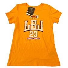 Fanatics T-Shirt Women's M L 2XL Yellow Lebron James LBJ Lakers Champions 2020