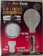 4 IN 1 POCKET KEYRING SCREWDRIVER SET AM-TECH EYEGLASS SIZES & SMALL ELECTRONICS