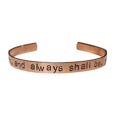 "I Have Been, And Always Shall Be, Your Friend Hand Stamped 1/4"" Copper Cuff B..."