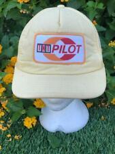 Rare VTG 70s Beige Yupoong TNT Pilot Patch Trucker Gas Snapback Baseball Hat Cap