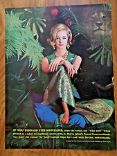 1963 Revlon Ad Jungle Peach   Ring by Van Cleef Arpels Costume by Evan Picone