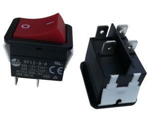 2pcs 18A HY12-9-4 Industrial Welder Welding Machine Power On Off Rocker Switches