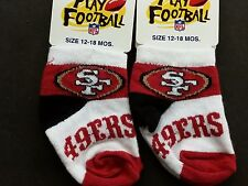 NFL Infant Baby Socks (Size 12-18 Months) San Francisco 49ers #3-2 (2 Pair)