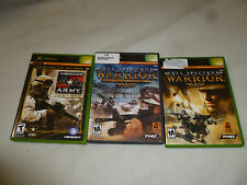 XBOX GAME LOT FULL SPECTRUM WARRIOR TEN AMERICAS AA ARMY RISE OF A SOLDIER THQ >