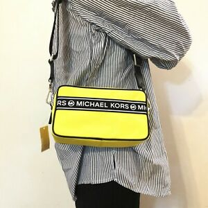 NWT Michael Michael  Kors Kenly Small Camera XBODY Crossbody Bag Bright Yellow