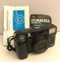 Minolta Freedom Tele 35mm Film Camera Point & Shoot 38-80mm lens w/ manual