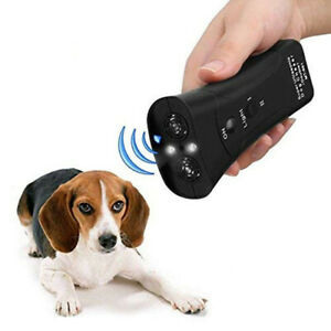 Ultrasonic Anti Dog Barking Pet Trainer LED Light Gentle Chaser Device Tool New