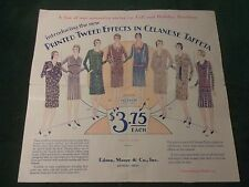1929 Edson, Moore Co, Detroit, Michigan-Celanese Fabric Dress- Mail Advertising