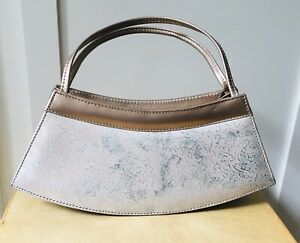 Vintage Style Evening Bag In Rose Gold with Pink Pattern