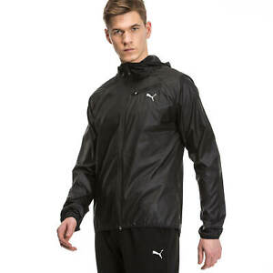 Puma Core Run Running Hooded Jacket for Men Training Black Sport Top New RRP£45