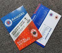 Rangers Glasgow v Royal Antwerp EUROPA LEAGUE Programme 25/2/21 LAST FEW