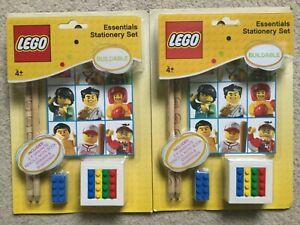 2 Lego Stationery Sets- Pencils, Eraser, Sharpener, Notebook - stocking filler