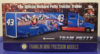 THE OFFICIAL RICHARD PETTY TRACTOR TRAILER 1/43RD SCALE FRANKLIN MINT DIE CAST