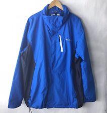 columbia Men XL interchange jacket Omni Tech Blue Shell Only Waterproof Wind