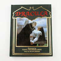 DRACULA by Bram Stoker, Illustrated by Greg Hildebrandt (1985, Hardcover)