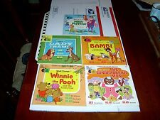 LOT OF 5-A DISNEYLAND RECORD AND BOOK-WINNIE THE POOH & MARY POPPINS & BAMBI,ETC