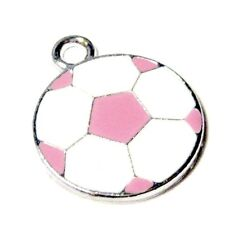 5 pieces 18x21mm football en Alliage de Zinc émail charme Pendentifs-a0804