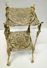 Flower Stand Brass 46x25 Antique Plant Stand Telephone Gold Table 1082294