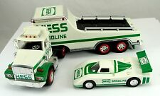Set 2 Toy Hess Vehicles Truck & Race Car 1991 Truck Space Shuttle & Satellite