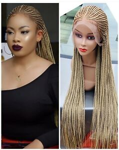 Braided wig: handmade cornrow Ghana weave with Frontal PRE-ORDER ONLY. 2-3 WEEKS