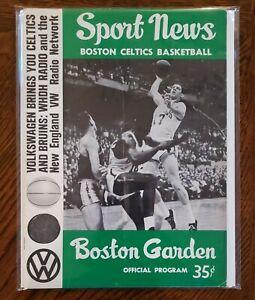 Boston Celtics Sport News Program January 19 1964 v SF Warriors Wilt Russell