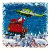 Charity Christmas Card Air Ambulance Service A FESTIVE FLIGHT 10 Pack