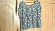 Comfy crop top lacey/ grey zip back detail George size 24 cap sleeve