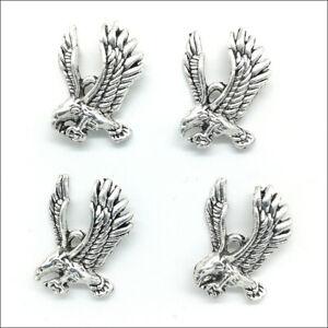 40X Eagle Antique Silver Charms Pendants For Earrings Necklace Bracelet 25*18mm