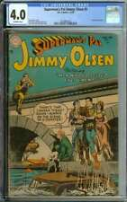 SUPERMAN'S PAL JIMMY OLSEN #3 CGC 4.0 OW PAGES // LAST PRE-CODE ISSUE 1955