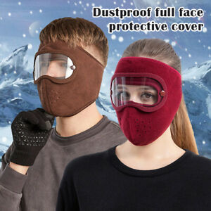 Dust-Proof Facial Protection Anti-Fog Protection Headgear w/ Removable Goggles