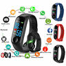 Smart Band Watch Bracelet/Wristband Fitness Tracker Blood Pressure HeartRate M3*