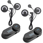 2x 800M BT Bluetooth Motorcycle Intercom Headset suits FOX AGV Arai Shoei Helmet
