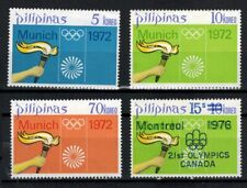 1972 Philippines Stamps - Sc#1163-1165, 1297  Olympic Games Set - MNH