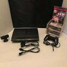 Sony PlayStation 3 Super Slim 500GB Black Console (CECH-4203C) Bundle Games PS3