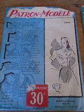 (049) ANCIEN PATRON ECHO DE LA MODE French Pattern BLOUSE  A REVERS  44