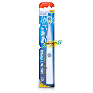 Wisdom Micro Power Battery Operated Powerful Plaque Removal Medium Toothbrush