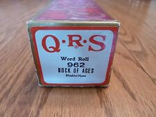 """QRS Pianola Roll - Hymn Tune - """"ROCK OF AGES"""""""