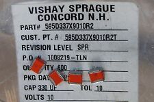 25pcs 330uf 10V TANTALUM SMD 10% low ESR 0.13 ohm 595D337X9010R2T VISHAY-SPRAGUE