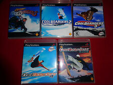 EMPTY CASES!  Cool Boarders 1 2 3 4 2001 Collection PlayStation PS1 PSX