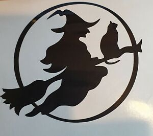 Witch And Cat Halloween Decal Sticker