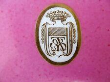 Assiette ,plat en porcelaine de Paris couronne comtale XIX ème s,blason,armoirie