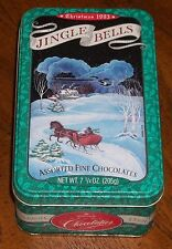 Vintage Christmas 1993 Jingle Bells Hallmak Crown Chocolate Tin With Lid