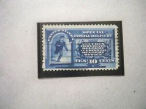 USA Used, 1885 Issue, 10 Cent Special Delivery Blue Messenger Running
