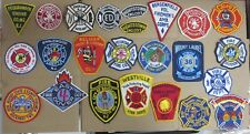 NEW JERSEY FIRE/RESCUE DEPARTMENT PATCHES! SET 2! LOT OF 24!