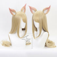 KDA Team Ahri Cosplay Wig Game LOL League of Legends Blonde Wigs Costume + Ears