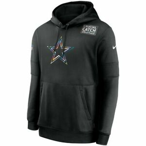New NFL Dallas Cowboys Nike Crucial Catch Sideline Performance Pullover Hoodie