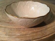 Lenox Gold Trim 4.5� Across Rim / Finger Bowl / Candy Dish Feather / Leaf Design