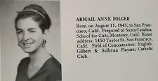 Abigail Folger Senior College Yearbook  Sharon Tate