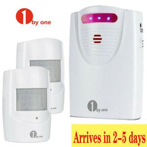 1 byone Wireless Security Driveway Infrared Alert Alarm System PIR Motion Sensor