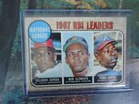 1968 TOPPS RBI LEADERS HANK ARRON, BOB CLEMENTE AND ORLANDO CEPEDA